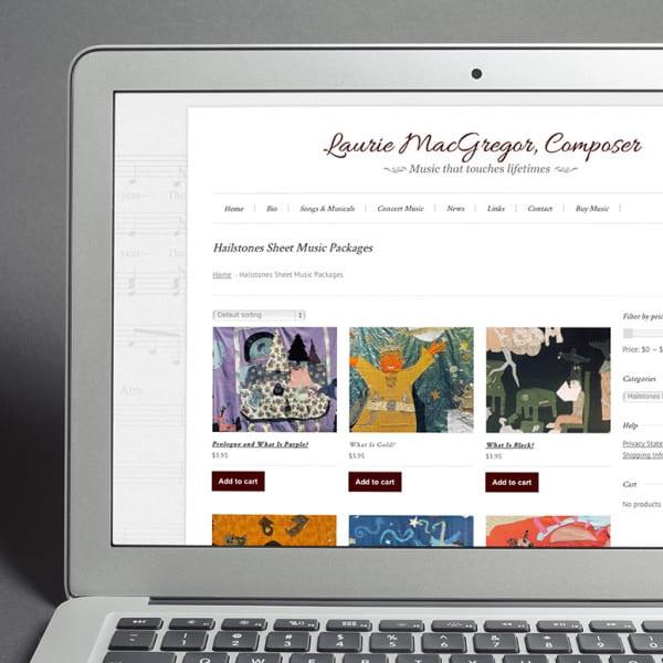 Laurie MacGregor eCommerce WordPress Website Design