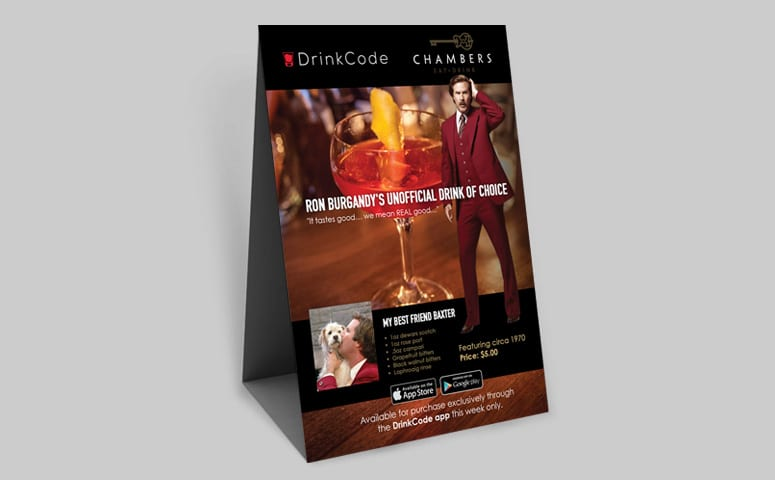DrinkCode Mobile App Promotion Design