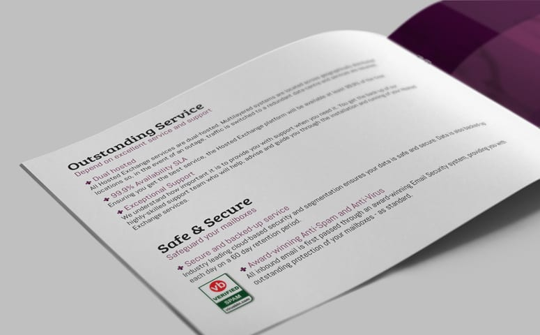 Hosting Company Brochure Design