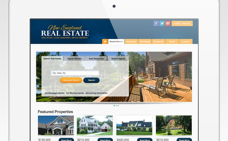 New England Real Estate Website Design