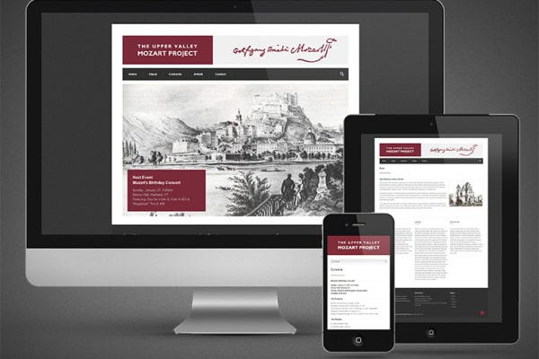 The Upper Valley Mozart Project Website Development