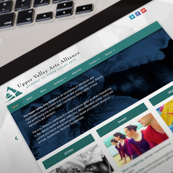 Upper Valley Arts Alliance WordPress Website Design